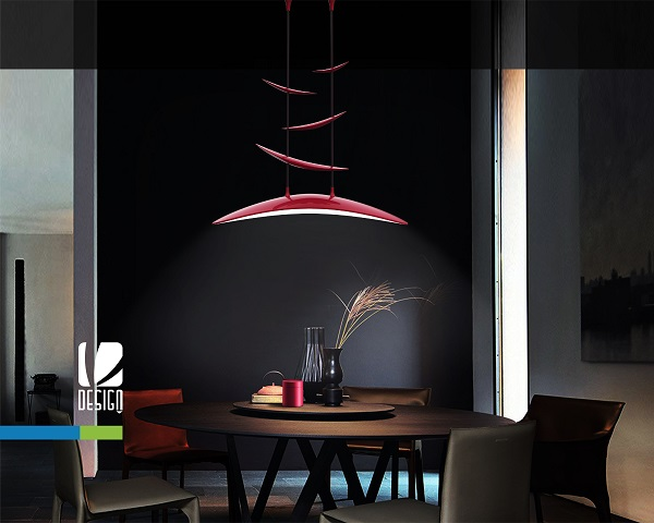 Thiết kế kiểu dáng đèn treo trần bàn ăn